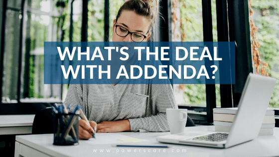 What's the Deal with Addenda?