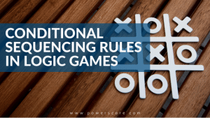 Conditional Sequencing Rules in Logic Games