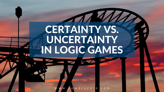Certainty vs. Uncertainty in Logic Games