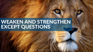 Weaken and Strengthen EXCEPT Questions
