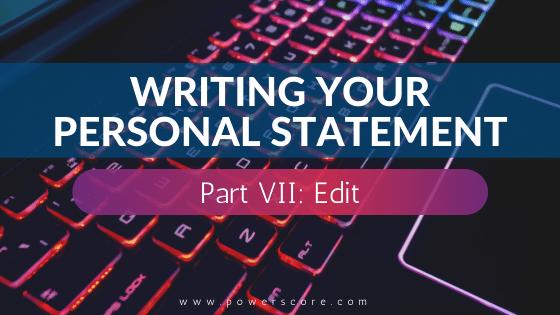 Personal Statement 07, Edit
