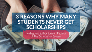 3 Reasons Why Many Students Never Get Scholarships