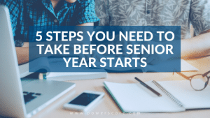5 Steps You Need to Take Before Senior Year Starts
