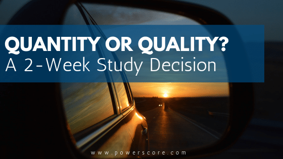 Quantity or Quality A 2 Week Study Decision